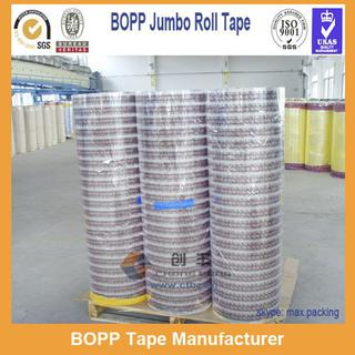 High Viscidity Heavy Duty Custom Printed BOPP Tape Jumbo Rolls