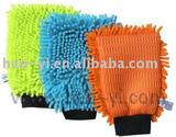 Chenille microfiber car/windows cleaning glove
