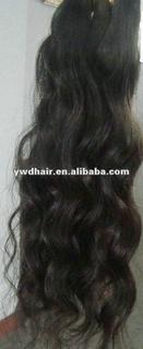 natural color in stock virgin peruvian hair weaving with excellent