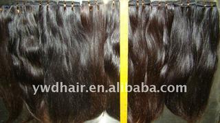 100% pure virgin unprocessed brazilian weft unprocessed with full cuticle