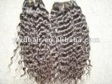 nature color 100% brazilian curly remy hair weave/brazilian remy human hair kinky curly weave