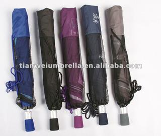 "27"" Auto Open 2-section Golf Umbrella with Matching EVA Handle"
