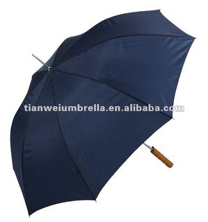"29"" x 8K Auto Open Golf Umbrella with Wooden Handle"