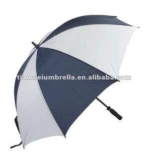 "Polyester Golf Umbrella with Manual Open, Fiberglass Frame and 14mm Shaft, EVA Handle, Measures 30""x8k"