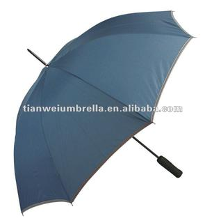 "24""x8K Straight Promotional Golf Umbrella with Reflective Border"