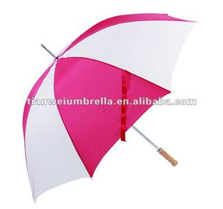 "29"" x 8K Manual Open Wooden Handle Golf Umbrella with Double Ribs"