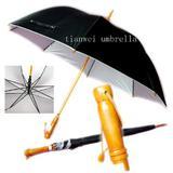 Wooden Handle Golf Umbrella with Wooden Pole
