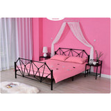 Simple Fully Welded Metal Frame Bed Single With Strong Structure