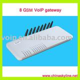 8 ports GSM VoIP gateway with H.323 and SIP