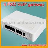 4 FXO VoIP gateway,support H323,SIP,VLAN and QoS
