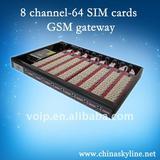 8 channel--64 sim cards gsm gateway