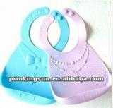 2012 New style easy clean silicone bibs for baby
