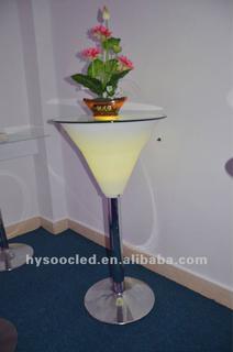 bar table/portable bar/nightclub furniture/glowing table/used nightclub furniture/led table