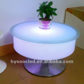 led bar table/color bar table/high bar table and chairs/nightclub bar table/led cube table