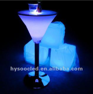 led bar table/color bar table/high bar table/nightclub bar table/led cube table/led table/high led table