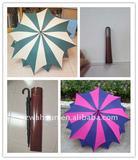 "27""x16kx14mm straight manual maple umbrella"