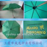 promotional straight umbrella with wooden handle