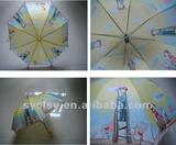 17''*8K auto open children umbrella with carton picture