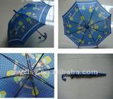 17''*8K auto open children umbrella with carton picture