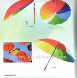 68.5*16K rainbow straight umbrella
