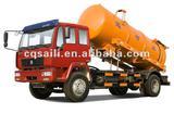4x2 Suction sewage truck Sinotruk Vacuum tank truck