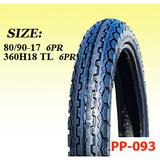 Motorcycle tubeless tire 360H18