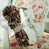 heavy animal printed fleece throw blanket