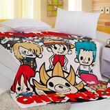 cartoon printed polar fleece blanket