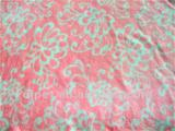 100% polyester flower print flannel fabric