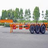 20ft/30ft Gooseneck Rear 3 FUWA Axles Carbon Steel Container Trailer Chassis
