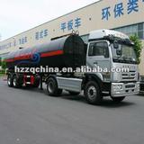 2010 Export to Saudi Arabia -- 32000L Carbon steel (rear 2 FUWA axles) asphalt tank semi trailer
