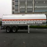 2011 Export to Philippine -- 30000L Carbon steel (rear two FUWA axles) fuel tank semi trailer