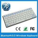 Stainless Steel shell Rechargeable Wireless Bluetooth keyboard