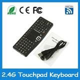 2.4G Mini rechargable Wireless Keyboard with touchpad