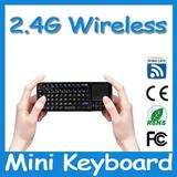 2.4G Multimedia handheld Rechargeable Wireless Keyboard and Mouse USB with touchpad&laser pointer