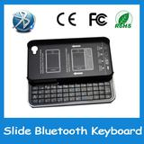 Hot sale bluetooth wireless hardshell case cover slide keyboard for iphone 4 4G 4S