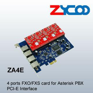 Asterisk Cards PCI-E Cards 4 ports