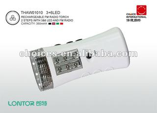 LONTOR Brand Rechargeable FM radio torch