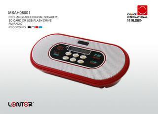 LONTOR Rechargeable digital speaker
