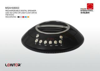LONTOR Brand Rechargeable Digital Speaker