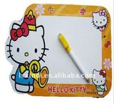 21x30 KITTY plastic frame magnetic whiteboard,promotional magnetic whiteboard with frame
