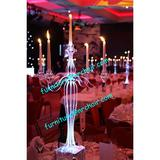 wedding lighted acrylic Candelabra centerpiece