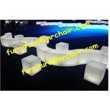event acrylic lounge LED light sitting cube seat