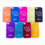 For iphone 4 aluminum Case Love Phone Cover case for iphone 4s