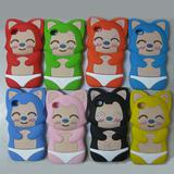 Cute 3D Ali Fox Silicone phone case for iphone 4