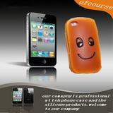 New Kawaii Face Bread Soft Case for iPhone 4,creative scented Simulation Food Squishy Bread Phone Cases