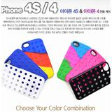 Double phone case silicon case candy point skin cover for phone4 4s cell phone hard phone case