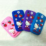 Hello Kitty Silicon Case Cover Skin For blackberry 8520 new Kitty bowknot with love and strawberry design case