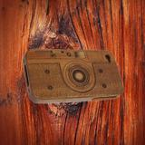 Camera Wood Bamboo cover Cases for iPhone 4 4s