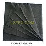 Cotton spandex jersey fabric with softening in heather grey color for T-shirt